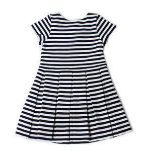 RALPH LAUREN Stripe Ponte Knit Pleated Dress 18 M